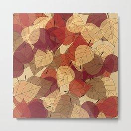 Fallen Leaves Large Metal Print