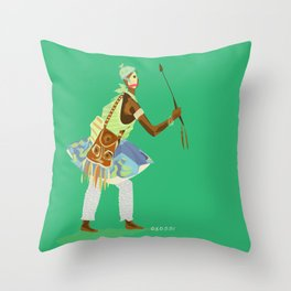 ORIXAS_ oxossi Throw Pillow
