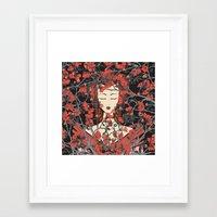 sleeping beauty Framed Art Prints featuring Sleeping Beauty  by Paula Belle Flores