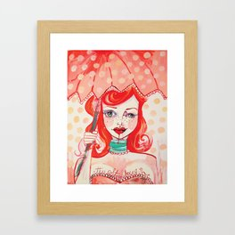 The Strawberry Framed Art Print