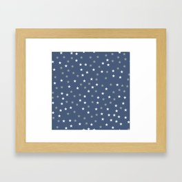 Stars Pattern 5 Framed Art Print