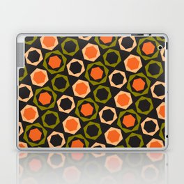 Geometric Pattern 161 (orange hexagons) Laptop & iPad Skin