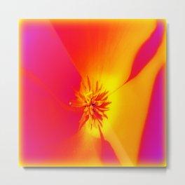 Poppy Glow Metal Print