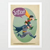 justice Art Prints featuring JUSTICE! by stoopz