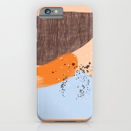 Mushrooms and Lichen abstract mid-century modern art iPhone Case