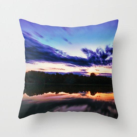 Sunset on Alum Creek Galena, Oh. Throw Pillow