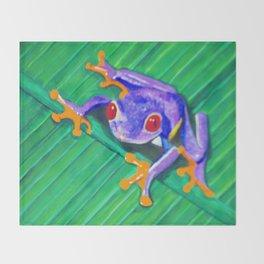 Tree Frog Throw Blanket
