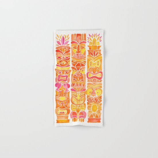 Tiki Totems – Orange Ombré Hand & Bath Towel