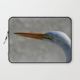 Egret Portrait Laptop Sleeve