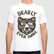 HI(BEAR)NATE Mens Fitted Tee SMALL White