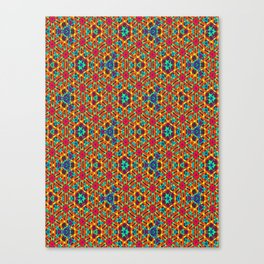 Crochet Knitted yarn Canvas Print
