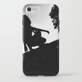 girl on a ledge iPhone Case
