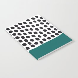 "Elegant Handpainted Polka Dots with ""Shaded Spruce"", Fall, Autumn Color Notebook"