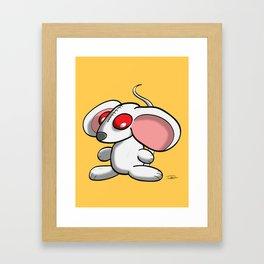 White mouse Framed Art Print