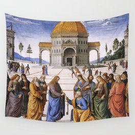 The Delivery of the Keys Painting by Perugino Sistine Chapel Wall Tapestry