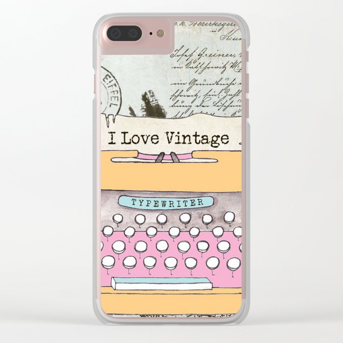 Typewriter #1 Clear iPhone Case