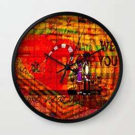 """"""" Your first name is the secret code of my heart """" Wall Clock"""