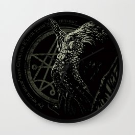 Cthulhu - Chant design - Necronomicon symbol Wall Clock