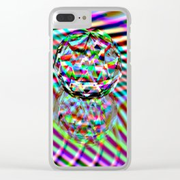 The second Colour of facets Clear iPhone Case