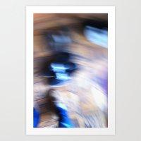 It's all a blur Art Print