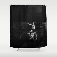 paramore Shower Curtains featuring Monumentour, 2014 by Danielle Doepke
