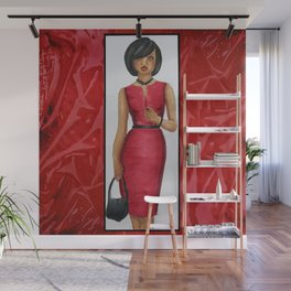 The Woman In Red Wall Mural