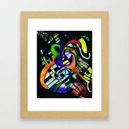 broken strings Framed Art Print