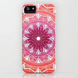 Pink & Orange Flower Mandala iPhone Case