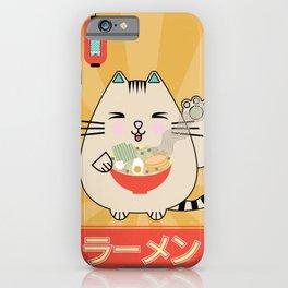 Lucky Cat Ramen iPhone Case