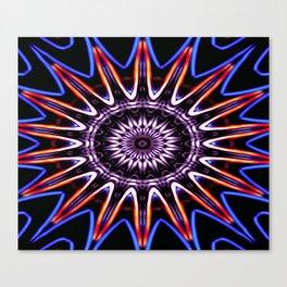 Neon Wagon Wheel Canvas Print
