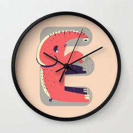 E for Elephant Wall Clock