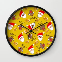 Merry Christmas Vibes Wall Clock