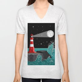 Fabulous Lighthouse Unisex V-Neck