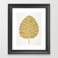 Elephant Ear Alocasia – Gold Palette Framed Art Print