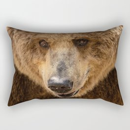Brown Bear Portrait Rectangular Pillow