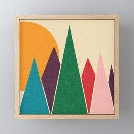 solar mountain #homedecor #midcentury Framed Mini Art Print
