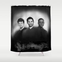 derek hale Shower Curtains featuring Hale Pack Boys by Finduilas