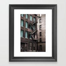 Teal & Brick Framed Art Print