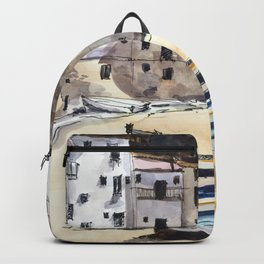 Italian Fishing Village Backpack