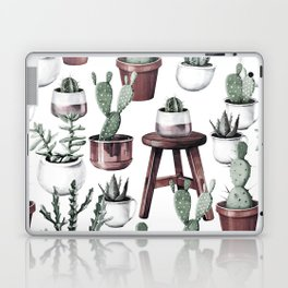 Happy Potted Cacti in Rose Gold Pots Laptop & iPad Skin