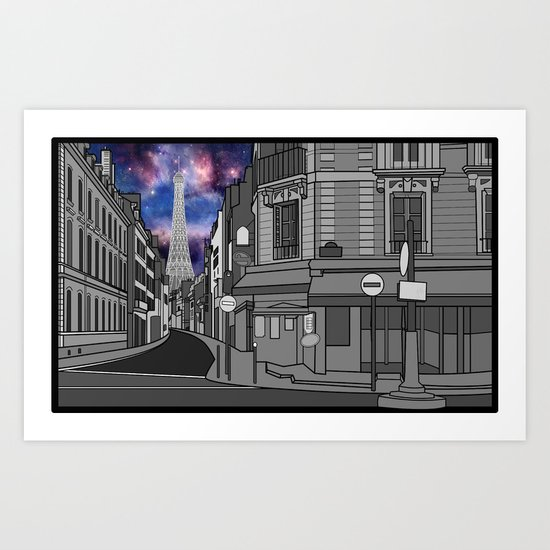 Paris: The Center of the Universe Art Print