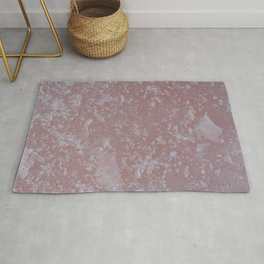 Icy pink surface, abstract image Rug