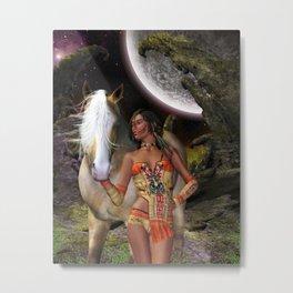 Native Beauty Metal Print