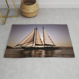 big beautiful sailboat Rug
