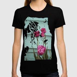 Tulips on Turqouise T-shirt