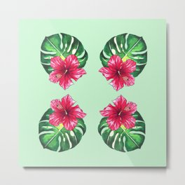 Lily pad Tropical Metal Print