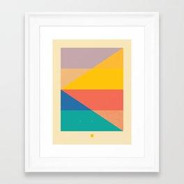 Secret Surf Map 006 — Matthew Korbel-Bowers Framed Art Print