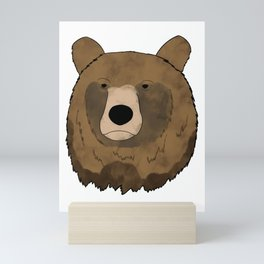 Watercolor bear Mini Art Print