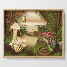 Fungus Cottage -  Ella Springhollow Scene 1 Serving Tray