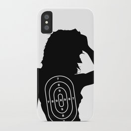 Female Human Shape Target iPhone Case
